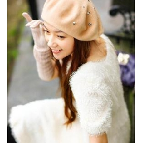 Beret Riveted Windproof Crushable Wool Hats